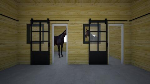 2 stall horse barn - Country - Garden - by chloe_mccarty