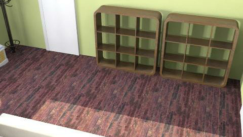 green living room - Modern - Living room - by oscalora