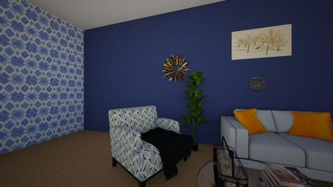 blue and gold - Living room - by PipPipJangles