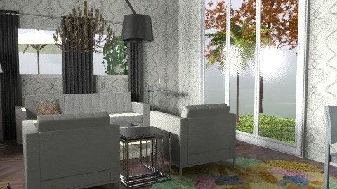 Living/dining room with Missoni rug - Modern - Living room - by ateliertally