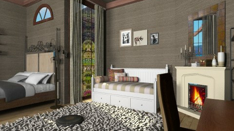 hogsweed - Vintage - Bedroom - by Veny Mully