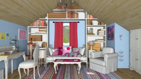 Cozy attic - Vintage - Bedroom - by alleypea