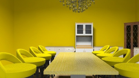 yellowness - Dining room - by cici45