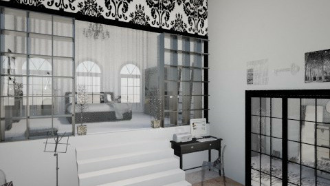 Black and White - Glamour - Bedroom - by TOP