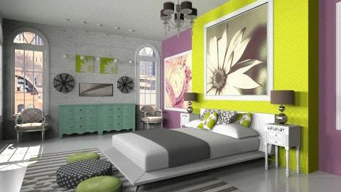 Modern Vintage Room - Vintage - Bedroom - by BriaFaith