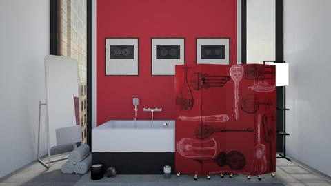 Simple Red - Bathroom - by Lailost
