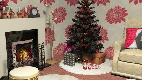 Christmas card - Country - Living room - by rozjtante