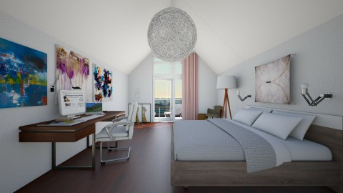 Attic Bedroom - Living room - by nelly_wreland