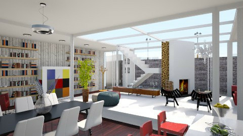Going Dutch_Basement Apt - Eclectic - Living room - by giulygi