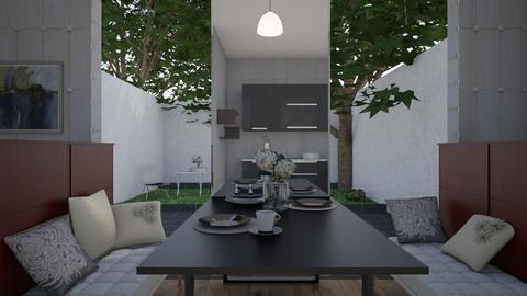 Looking Outside - Modern - Dining room - by XiraFizade