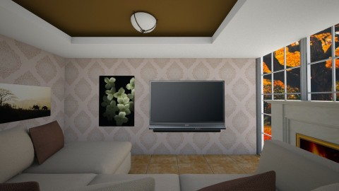 relax browny room - Living room - by Boka i Deki