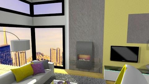 City Living Room  - Living room - by ynes6