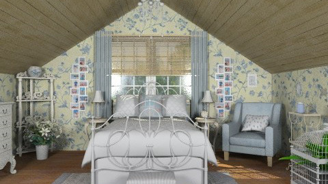 Vintage blue attic bedroom - Vintage - Bedroom - by alleypea