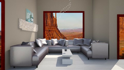 desert house - Living room - by Amateur architect