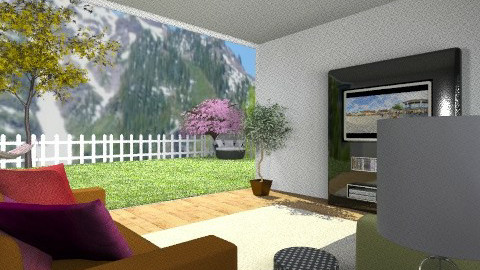 Colourful living room - Living room - by TheDesignQueen