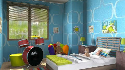Cruising for bruising - Modern - Kids room - by alleypea