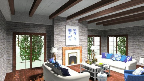 rustic living room - by livia87