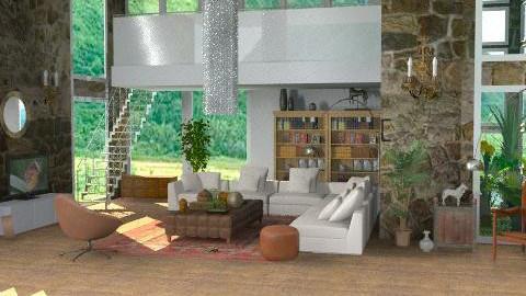 LivingRoom1445*re-model* - Rustic - Living room - by camilla_saurus