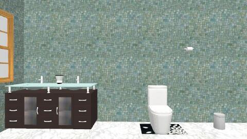 The Down Stairs Bathroom - Glamour - Bathroom - by gilliankyle