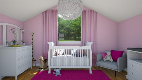 pink - Bedroom - by clairelist07