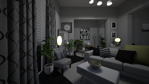 Grey - Living room - by MiaM