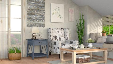 Rustic 3 - Rustic - Living room - by Sally Simpson