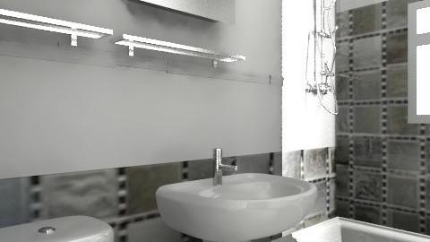 salle de bain - Retro - Bathroom - by Yellow1806