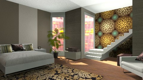 Brown room - Bedroom - by vydrovamisulka1
