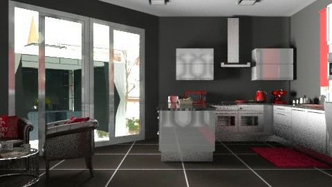 Kitchen1red - Modern - Kitchen - by yvonne400cc