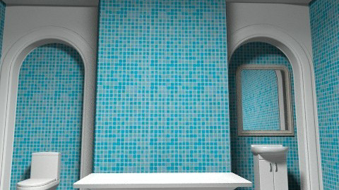 Blue - Country - Bathroom - by Rickyj95