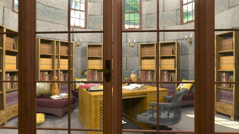 the castle reading room - Classic - by auntiehelen
