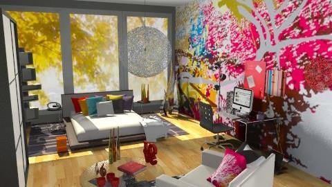 Splatter Rainbow Room - Eclectic - Bedroom - by idesine