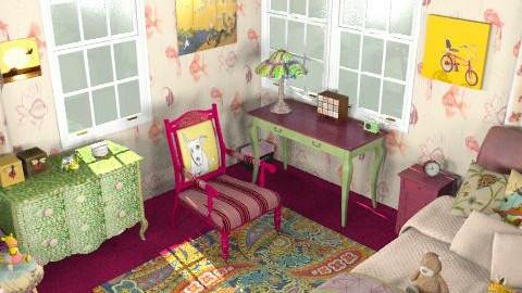 Onceuponatime - Retro - Bedroom - by ATELOIV87