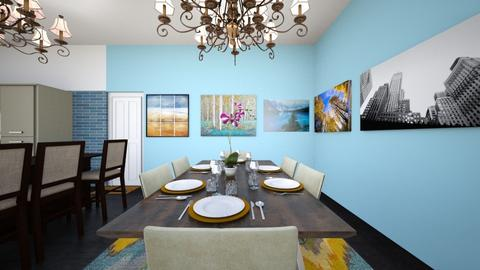 Apartment Dining Room - Dining room - by SammyJPili