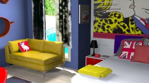lichtenstein rules - Retro - Bedroom - by Andrea_