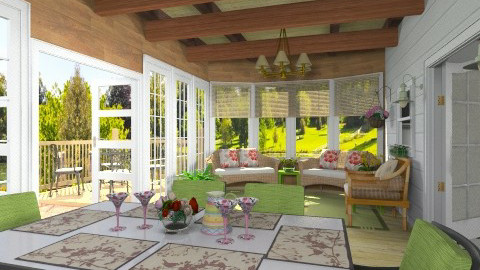 Veranda - Country - Living room - by Bibiche