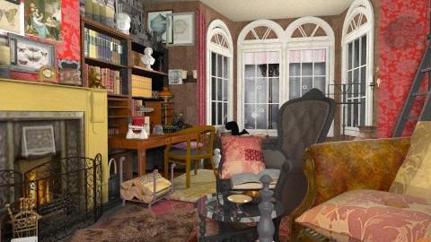 Baker St study2 - Vintage - Living room - by katmills98