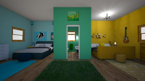 Shared Teen room - Bedroom - by 18ssnyde