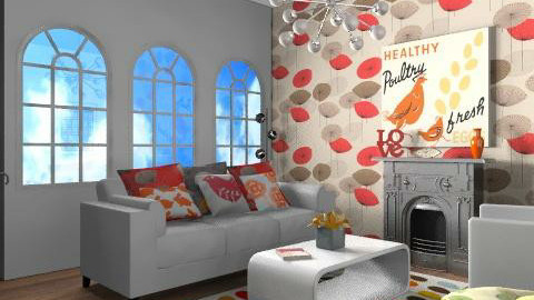 funky flat 1 - Retro - Living room - by yasemin04