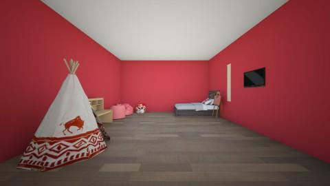 Xander Red - Kids room - by Eternity