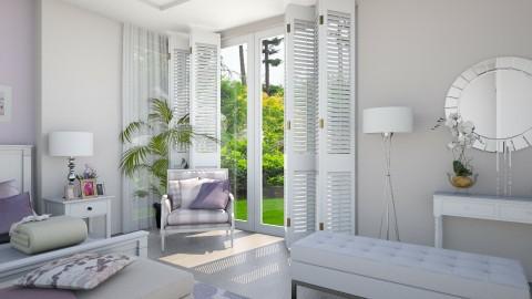 White Lilac 1 - Minimal - Bedroom - by Ejad Shukri