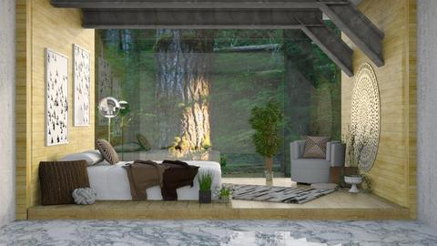Forest Glass Wall - Bedroom - by millerfam