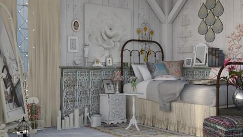 my shabby  - Bedroom - by Mum Dali
