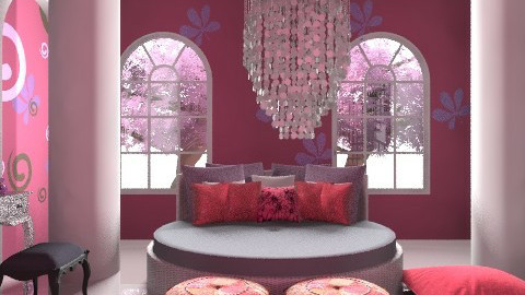 princess bedroom - Glamour - Bedroom - by Aliya Al