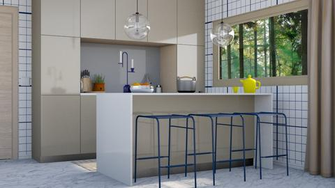 Champagne and blue - Modern - Kitchen - by HenkRetro1960
