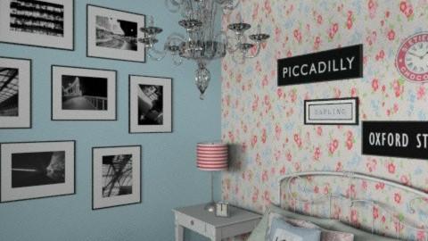 Blue Bedroom - Vintage - Bedroom - by kelleigh