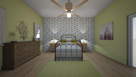 Bedroom Green Yellow - by ctroom123