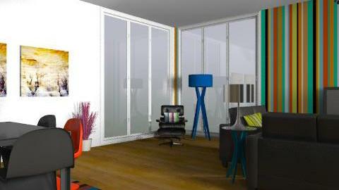 funky living room  - Retro - Living room - by Fulton Gary