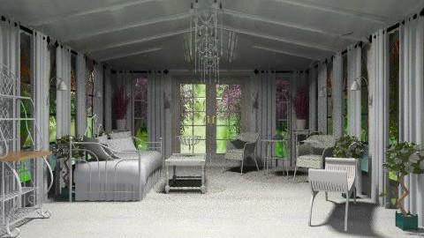 White Retreat  - Classic - Garden - by K_White