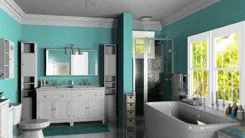 Turquoise Bathroom - Classic - Bathroom - by Bibiche